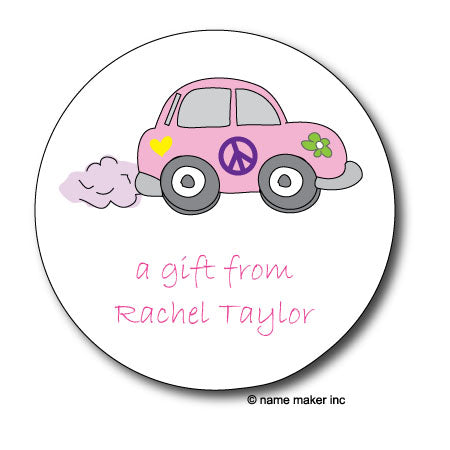 Round LoveBug Gift Stickers