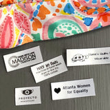 Face Mask Printed Labels-Satin Small Iron on