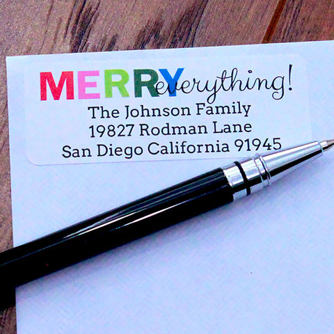 Merry Everything Address Stickers