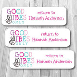 Good Vibes Mini Waterproof Sticker