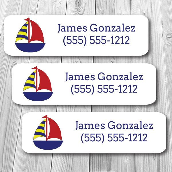 Sailboat Mini Waterproof Sticker