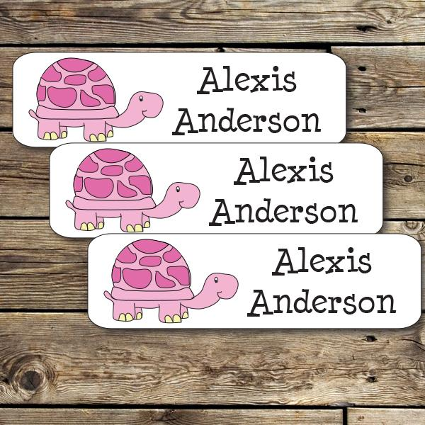 Pink Turtle Mini Waterproof Sticker