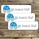 Blue Turtle Mini Waterproof Sticker