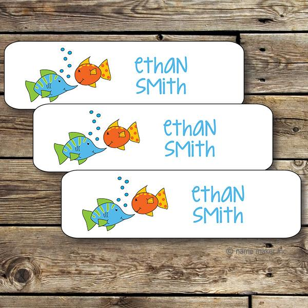 Fish Mini Waterproof Sticker
