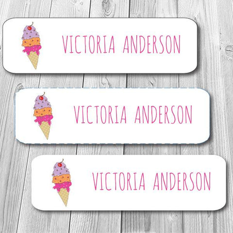 Ice Cream Mini Waterproof Stickers