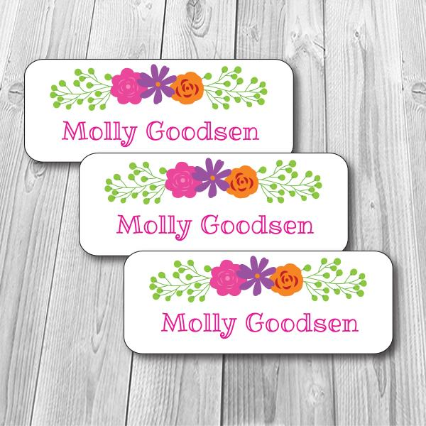 Modern Floral Waterproof Labels