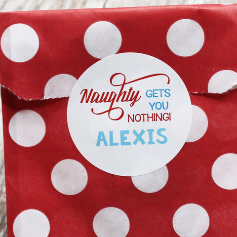 Naughty Gift Stickers