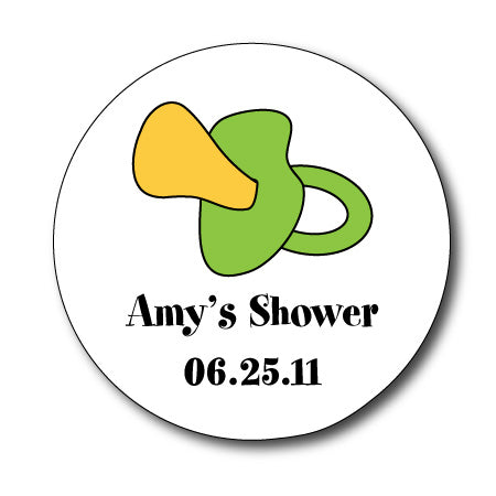 Round Pacifier Gift Stickers