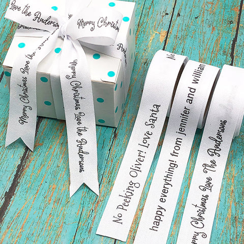Personalized Poly Cotton Ribbon 3/4""