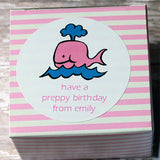 Pink Whale Gift Stickers