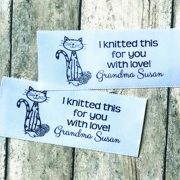 Printed Cat Satin Label