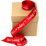 Christmas Personalized Satin Ribbon 7/8""
