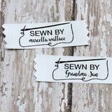 Sewn By Needle & Thread Satin Label