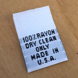 Style 30 (100% Ryon, Dry Clean Only, Made in USA)