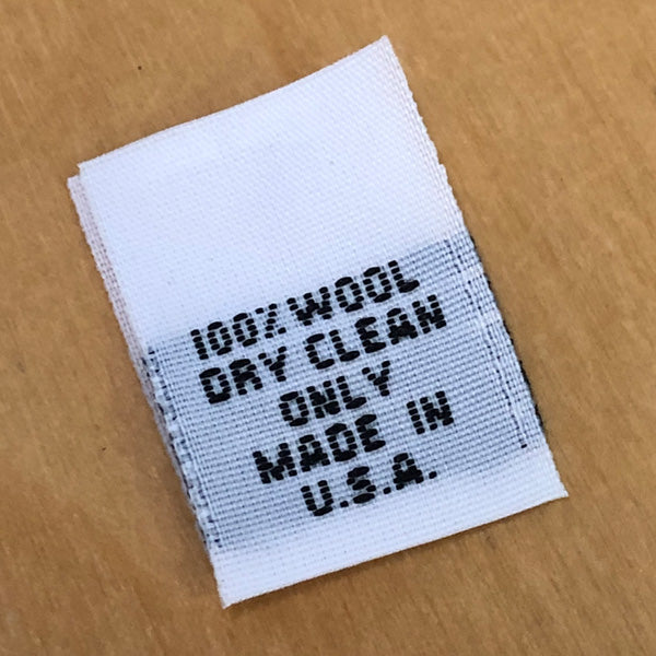 Style 33 (100% Wool, Dry Clean Only, Made in USA)