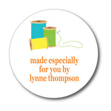 Round Spools of Thread Gift Stickers