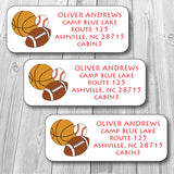 Sports Address Stickers