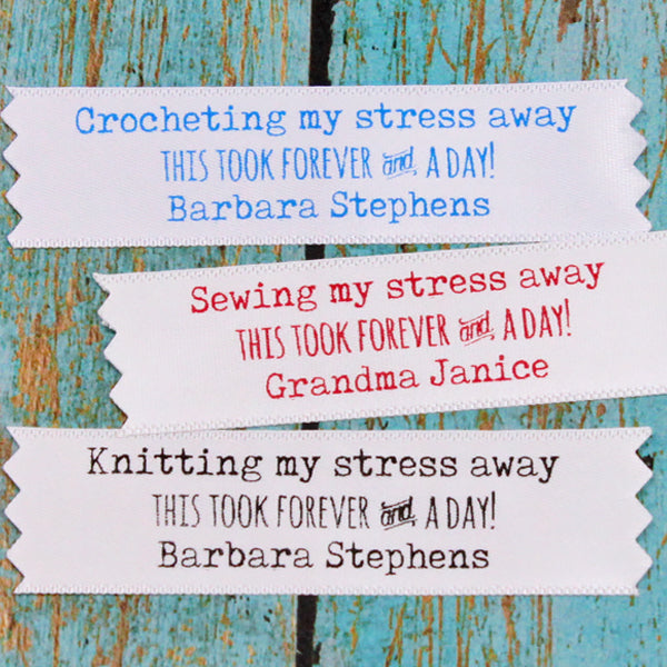 Stress Away Humor Satin Label