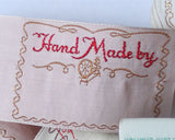 10 Hand Made By Vintage Labels