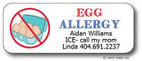 Egg Allergy Waterproof Label