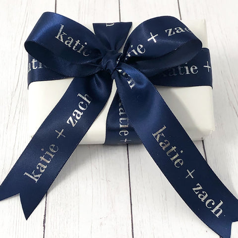 "Personalized Wedding Satin Ribbon 7/8"" - 36 Colors"