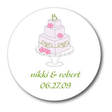 Round Wedding Cake Gift Stickers