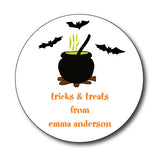 Round Witches Brew Gift Stickers
