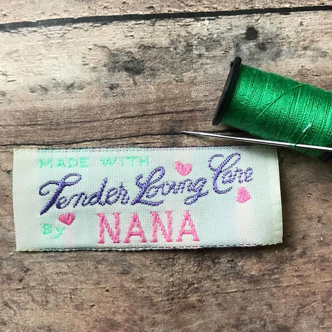 Set of 10 Nana Labels