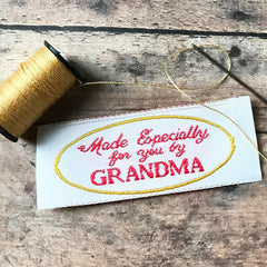 clothing labels sew in woven tags Grandma Made It KatM