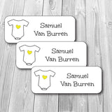Yellow Onesie Waterproof Labels