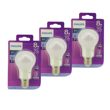 Pack x3 Ampolletas LED E27 PHILIPS 8W Fría