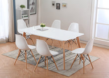 Mesa tipo Eames DSW rectangular en color blanco 160x80 cms