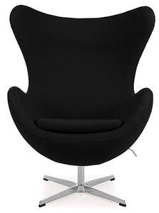 Silla sillon Huevo (Egg chair) Arne Jacobsen Negro