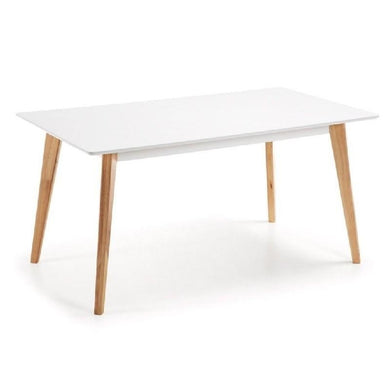 Mesa tipo Eames DSW rectangular en color blanco 120x80 cms