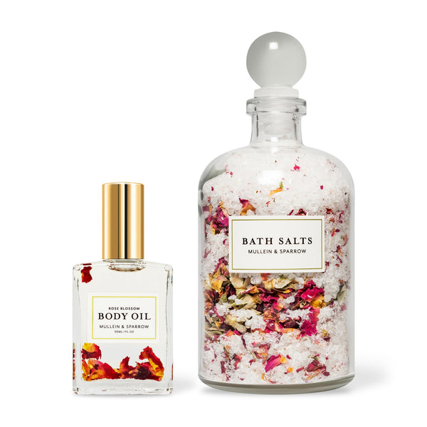Rose Blossom Oil + Bath Salts Set