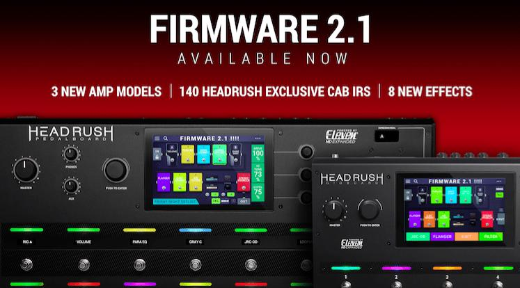 Headrush Release Pedalboard And Gigboard Firmware Update