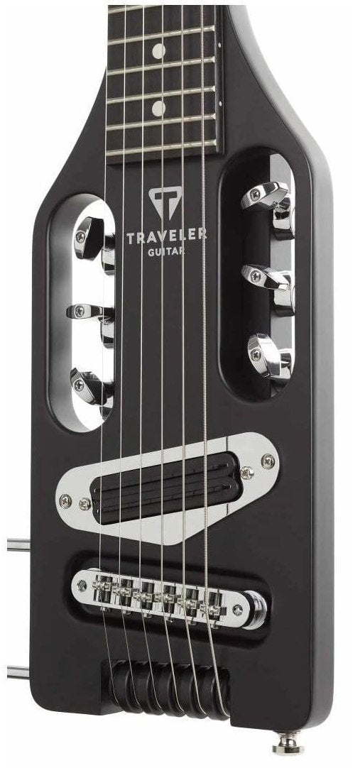 Traveler Guitar Ultra-Light Electric Left Handed Guitar in Matte Black, Traveler Guitar, haworth-music