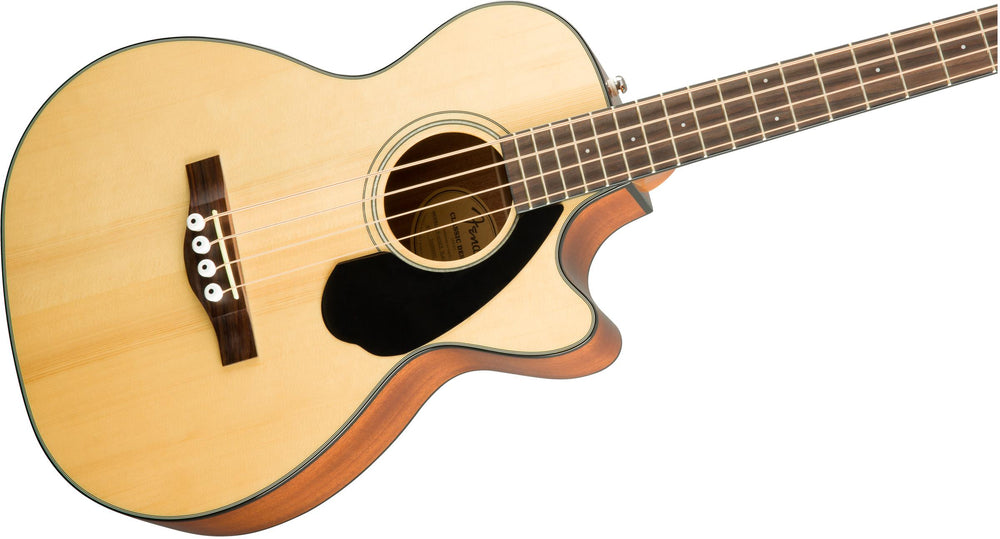 Fender CB-60SCE Acoustic Bass Guitar, Fender, haworth-music
