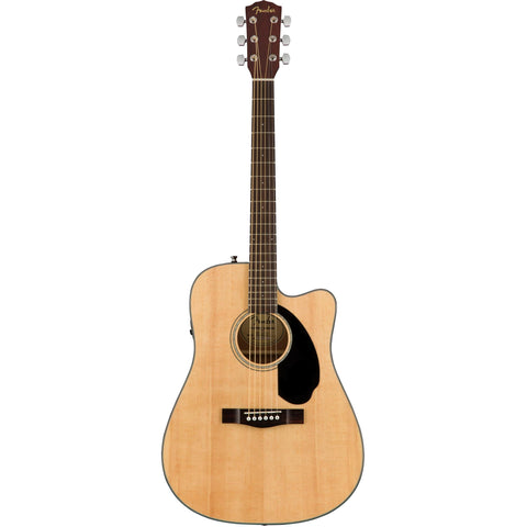 Fender CD-60SCE Natural Acoustic Guitar, Fender, Haworth Music