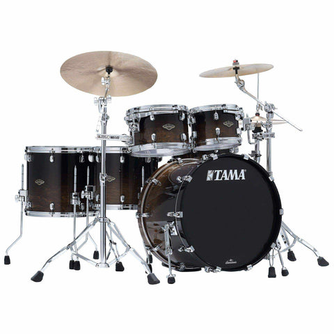 "The TAMA Starclassic Walnut/Birch 5-piece Shell Pack with 22"" Bass Drum in - Transparent Mocha Fade (TMF) - No Hardware Included, TAMA, Haworth Music"