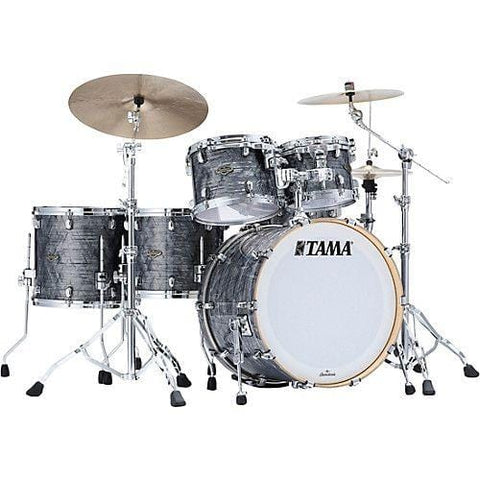 "The TAMA Starclassic Walnut/Birch 5-piece Shell Pack with 22"" Bass Drum in - Charcoal Onyx (CCO) - No Hardware Included, TAMA, Haworth Music"
