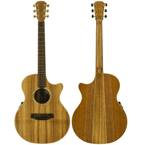 Cole Clark Angel 2EC Gloss Blackwood Blackwood, Cole Clark, Haworth Music