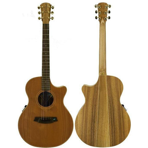 Cole Clark Angel 2EC Redwood Blackwood Rosewood with Hard Case