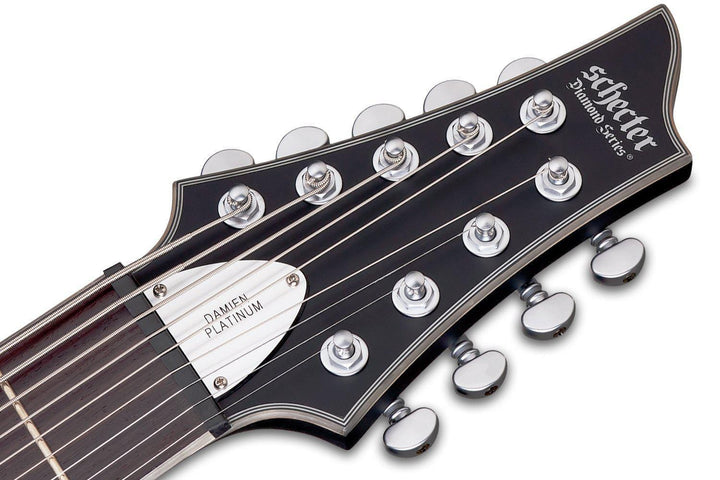 Schecter Damien Platinum-9 nine-string Electric Guitar in Satin Black, Schecter, Haworth Music