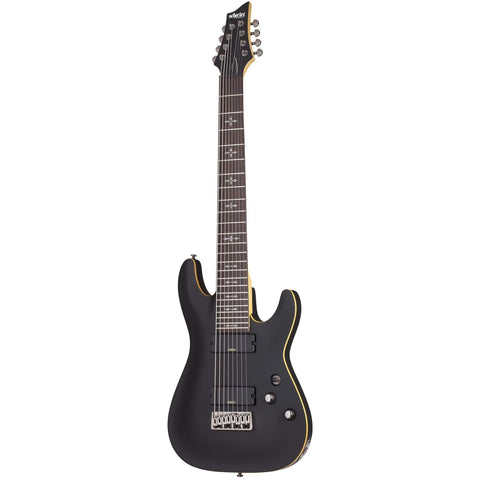 Schecter Demon-8 eight-string Electric Guitar in Aged Black Satin, Schecter, Haworth Music
