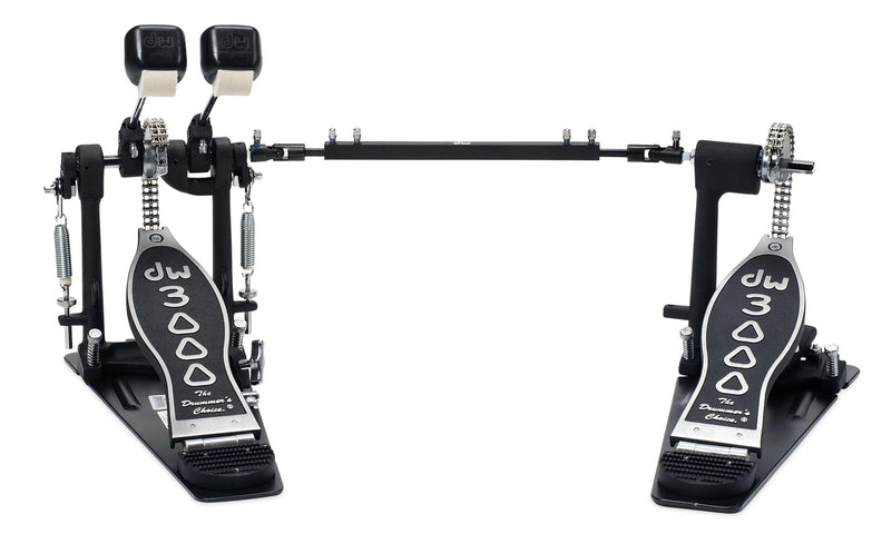 DW 3000 Series Lefty Double Bass Drum Pedal, DW Drums, Haworth Music