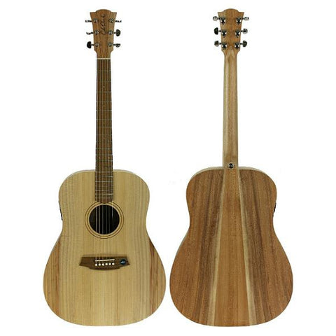 Cole Clark Fat Lady 1E Bunya Maple Blackbean Left Handed with Deluxe Gig Bag