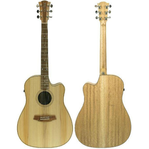 Cole Clark Fat Lady 2EC Bunya Maple with Hard Case
