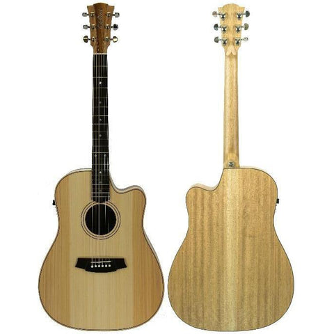 Cole Clark Fat Lady 2EC Bunya Maple Rosewood with Hard Case