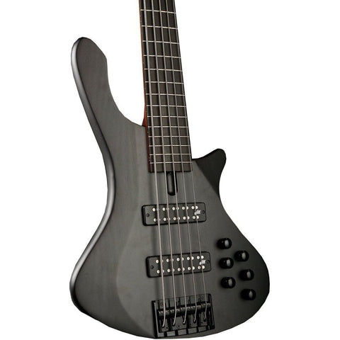 Cole Clark Long Lady 4 String Bass - Figured Maple Silkwood (Black), Cole Clark, Haworth Music